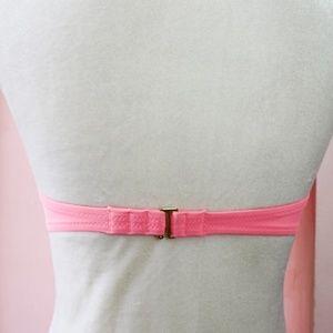 Victoria's Secret Swim - VS Swim - White Floral Strapless Bikini Top